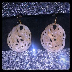 Scroll earrings.